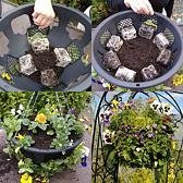 "PLANTOPIA EASY FILL 14"" TOP AND SIDE PLANTING HANGING BASKETS X2 WITH FREE SHIPPING"