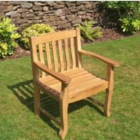 Safia Teak Garden Furniture Armchair - FREE* DELIVERY