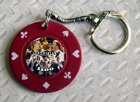 Take That Novelty $100 Poker Chip Keyring - Red