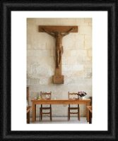 Framed Prints of Refectory, Notre Dame du Bec Benedictine Abbey, Le Bec Hellouin, Eure, from Robert Harding