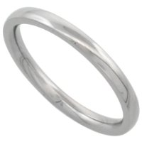 Stainless Steel 2 mm (1/16 in.) High Polish Comfort Fit Dome Wedding Band / Thumb Ring (Available in Sizes J TO X), Size P