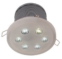 6 x 3W Blue LED Downlight Complete with driver
