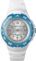 Timex Marathon Ladies Quartz Watch with Silver Dial Analogue Display and White Resin Strap T5K5044E