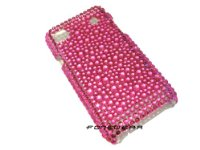 NEW PINK DIAMOND DIAMANTE CASE COVER PROTECTOR FOR SAMSUNG i9000 GALAXY S