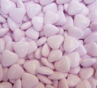 Mini Light Pink Heart Chocolate Dragees x 250