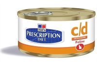 Hills Prescription Diet Feline C/D Multicare Minced with Chicken 24x156g Can