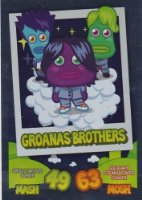 Topps No.131 Groanas Brothers Foil Card Moshi Monsters Mash Up Trading Card
