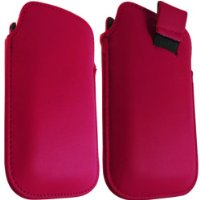 Media Products UK - Motorola Defy Hot Pink Leather Pull Tab Case Pouch Cover + FREE SHIPPING