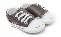 Baby Boys Brown Little Dude Design Shoes (12-18 Months) (Brown And White)
