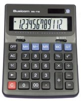 Busicom BS-112 12 Big digit angled Desk Display Calculator - from PCS
