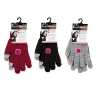 Ladies Touchscreen Gloves Compatible For Use With Iphone, Ipad, Ipod, Sat Navs And Other Touch Screen Devices - One Size