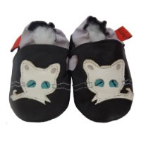 Soft Leather Baby Shoes White Cat 18-24 months