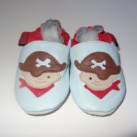 Soft Leather Baby Shoes Pirate 6-12 months
