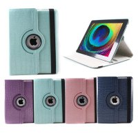 GMYLE (TM) Robin Egg Blue Crocodile 360 degrees Rotating Swivel Magnetic Smart Leather Stand Cover Case - Compatible with iPad 2/ the NEW iPad (3rd Generation)