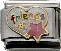 Friends Italian charm 9mm fits classic nomination bracelet