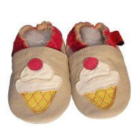 Soft Leather Baby Shoes Ice Cream 24-36 months