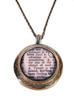 Love -Dictionary Quotes Locket - Gift Boxed