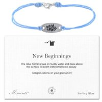 Moments New Beginnings Graduation Silver Lotus Bracelet