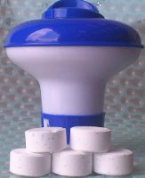 Small Dispenser with 10 Ultimate Chlorine Tablets 20g