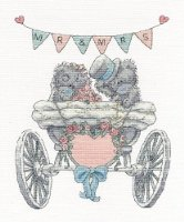 "DMC ""Me to You Tatty Teddy - Mr & Mrs"" Cross Stitch Kit, Multi-Colour"