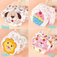 1pc Vicky Store Cartoon Dog Kids Pee Potty Training Pants Washable Cloth Diaper Nappy Underwear size 80CM