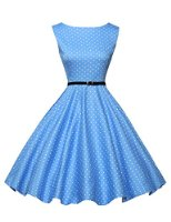 Classy Vintage 1950's Audrey Hepburn Style Rockabilly Swing Picnic Party Prom Dress