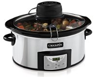 Crock-Pot CSC012 Digital Slow Cooker with Auto-Stir, 5.7 Litre, Stainless Steel